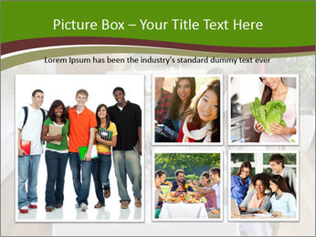 Big Family Having Dinner Together PowerPoint Templates - Slide 19