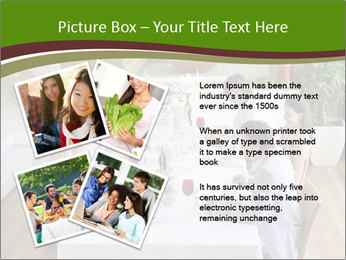 Big Family Having Dinner Together PowerPoint Templates - Slide 23