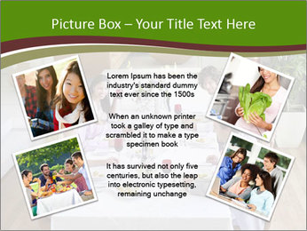 Big Family Having Dinner Together PowerPoint Templates - Slide 24