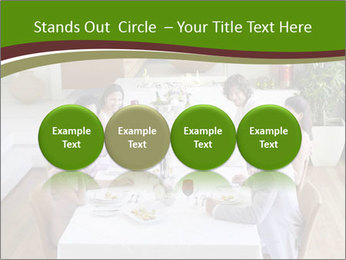 Big Family Having Dinner Together PowerPoint Templates - Slide 76