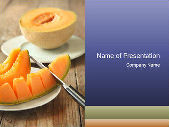Ripe Melon PowerPoint Template - Slide 1