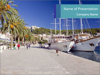 Summer Day At Harbor PowerPoint Template - Slide 1