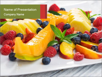 Fruit Salad PowerPoint Template