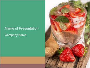 Strawberry Drink Modèles des présentations  PowerPoint