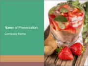 Strawberry Drink PowerPoint Templates