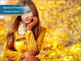 Autumn Princes PowerPoint Template - Slide 1