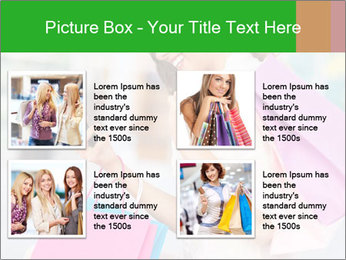 Woman Chatting In Shopping Mall PowerPoint Template - Slide 14