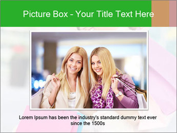 Woman Chatting In Shopping Mall PowerPoint Template - Slide 16