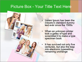Woman Chatting In Shopping Mall PowerPoint Template - Slide 17