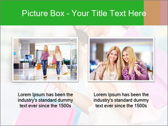 Woman Chatting In Shopping Mall PowerPoint Template - Slide 18