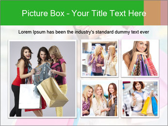 Woman Chatting In Shopping Mall PowerPoint Template - Slide 19