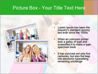 Woman Chatting In Shopping Mall PowerPoint Template - Slide 20