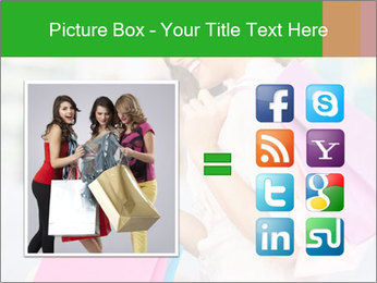 Woman Chatting In Shopping Mall PowerPoint Template - Slide 21