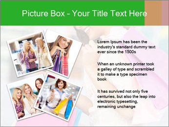 Woman Chatting In Shopping Mall PowerPoint Template - Slide 23