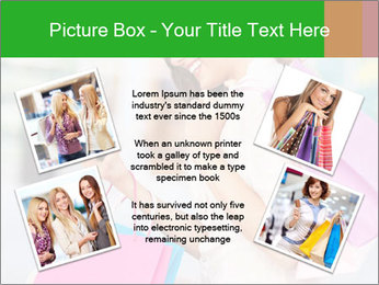 Woman Chatting In Shopping Mall PowerPoint Template - Slide 24