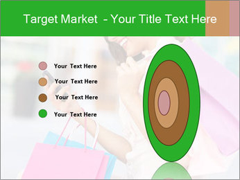 Woman Chatting In Shopping Mall PowerPoint Template - Slide 84
