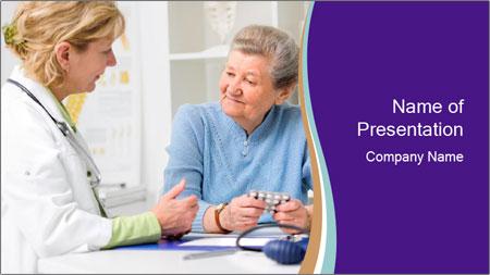 Old Woman Visits Doctor PowerPoint Template