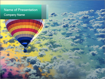Huge Balloon In Skyline PowerPoint Template