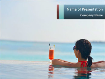 Woman At Luxury Resort PowerPoint Template