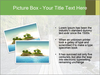 Hanging Bridge In Forest PowerPoint Template - Slide 20