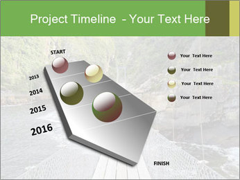 Hanging Bridge In Forest PowerPoint Template - Slide 26
