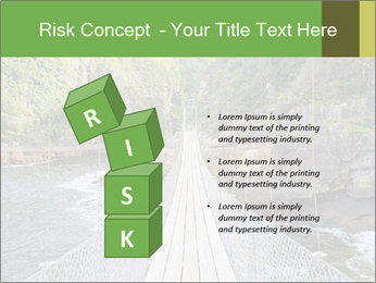 Hanging Bridge In Forest PowerPoint Template - Slide 81