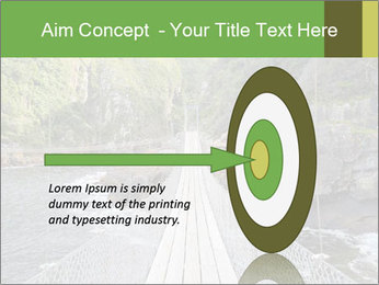 Hanging Bridge In Forest PowerPoint Template - Slide 83