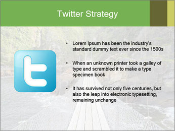 Hanging Bridge In Forest PowerPoint Template - Slide 9