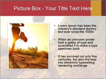 Woman Running Off Road PowerPoint Templates - Slide 13