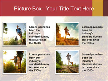 Woman Running Off Road PowerPoint Templates - Slide 14