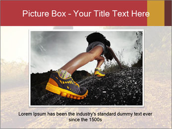 Woman Running Off Road PowerPoint Templates - Slide 15
