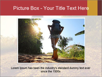 Woman Running Off Road PowerPoint Templates - Slide 16