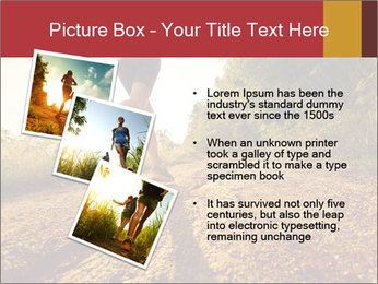 Woman Running Off Road PowerPoint Templates - Slide 17