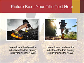 Woman Running Off Road PowerPoint Templates - Slide 18