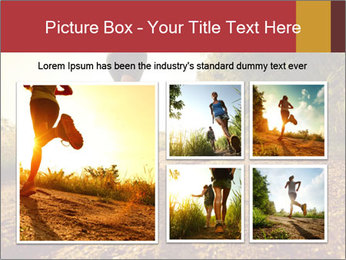 Woman Running Off Road PowerPoint Templates - Slide 19
