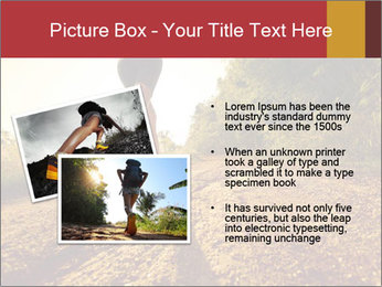 Woman Running Off Road PowerPoint Templates - Slide 20