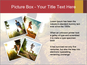 Woman Running Off Road PowerPoint Templates - Slide 23