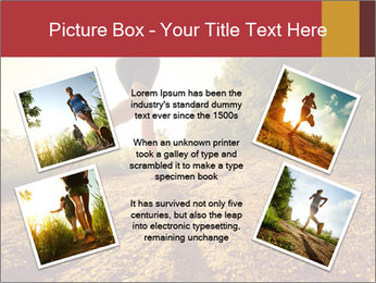 Woman Running Off Road PowerPoint Templates - Slide 24
