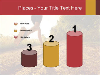 Woman Running Off Road PowerPoint Templates - Slide 65