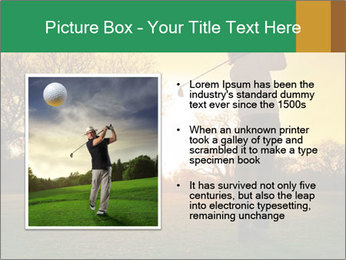 Man Playing Golf During Sunset PowerPoint Templates - Slide 13