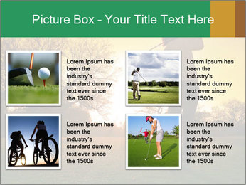 Man Playing Golf During Sunset PowerPoint Templates - Slide 14
