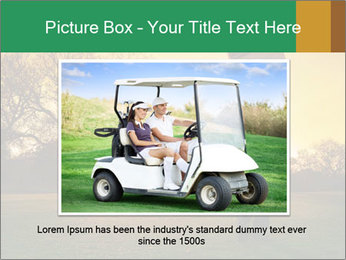 Man Playing Golf During Sunset PowerPoint Templates - Slide 15
