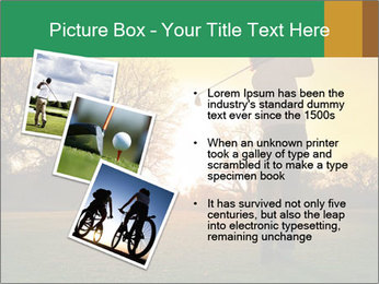 Man Playing Golf During Sunset PowerPoint Templates - Slide 17