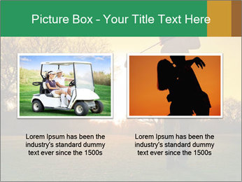Man Playing Golf During Sunset PowerPoint Templates - Slide 18