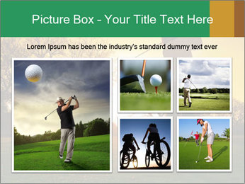 Man Playing Golf During Sunset PowerPoint Templates - Slide 19