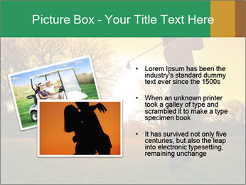 Man Playing Golf During Sunset PowerPoint Templates - Slide 20