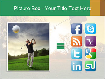 Man Playing Golf During Sunset PowerPoint Templates - Slide 21