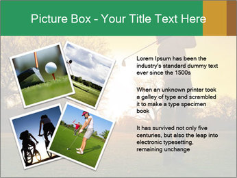 Man Playing Golf During Sunset PowerPoint Templates - Slide 23