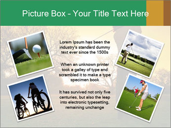 Man Playing Golf During Sunset PowerPoint Templates - Slide 24