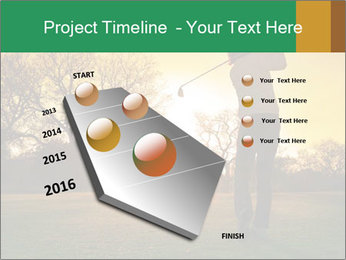 Man Playing Golf During Sunset PowerPoint Templates - Slide 26